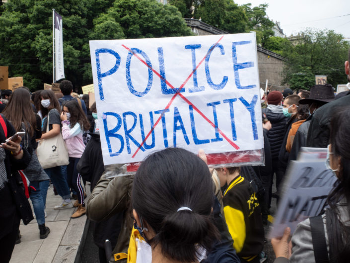 Stop racisme, police brutalité, George Floyd, hommage, photography