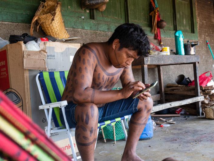 Ethnie Xikrin, Genipapo, Amazonie, MEG, Brésil, amérindiens, photographe Aurélien Fontanet